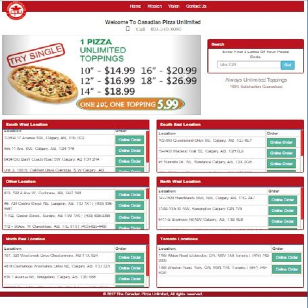 MaxTech Developers MTD www.canadianpizzaunlimited.ca